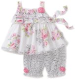 Biscotti Baby-Girls Infant Butterfly Garden Top And Pant Baby Set, Pink, 24 Months