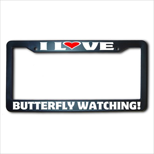 'I love Butterfly Watching' US license plate frame